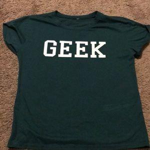 green geek shirt